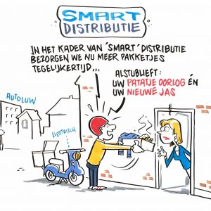 Smart Distribution Cartoon